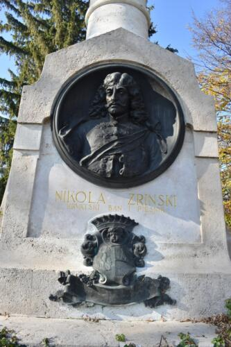 Nikola Zrinski na spomeniku Orlu